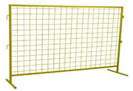 Инвентарные строительные ограждения ИСО-1. Дорожные ограждения переносные (передвижные барьеры) с логотипом 2000 х 1600 мм