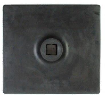 Подставка резиновая для вехи, солдатика, ограждения, знака 330х380