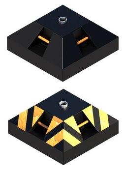 Фундамент для стойки дорожного знака Ф2 (под заливку бетоном) с комплектом арматуры (ручки для переноски, закладная металлическая труба для последующей установки стойки)