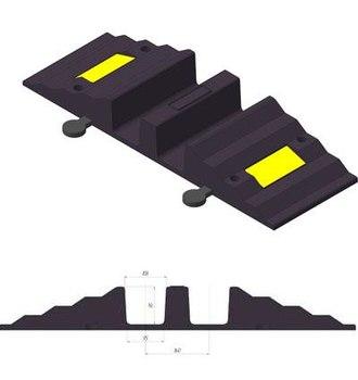 Рукавный мостик с 2 каналами для рукавов до 90 мм 297х815х82мм