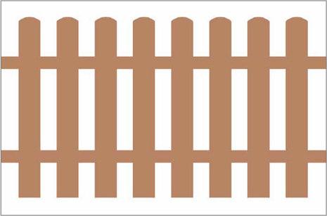 Баннерная сетка «Штакетник» 1,5х2,0 м. 200 руб./м2