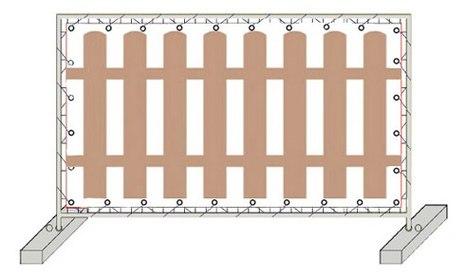 Баннерная сетка «Штакетник» 2,0х3,0 м. 200 руб./м2