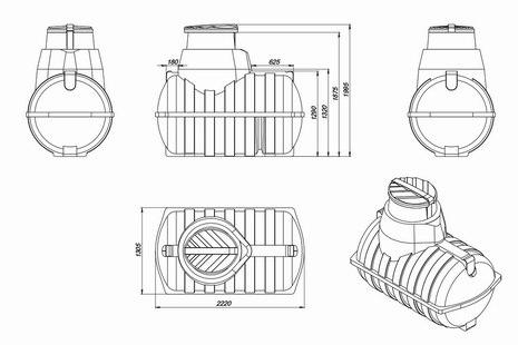 Схема емкости для топлива U-2000 OIL
