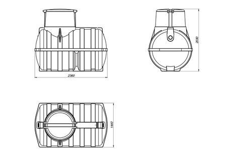 Схема емкости для топлива U-3000 OIL