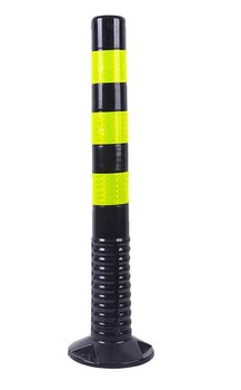 Столбик гибкий черный 750 мм цельный