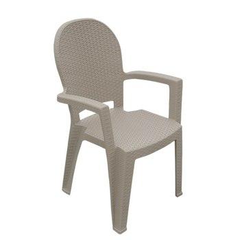 Пластиковый стул Ротанг (мокко)
