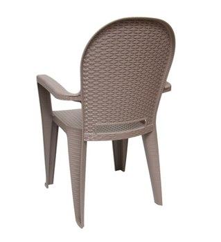Пластиковый стул Ротанг, вид сзади