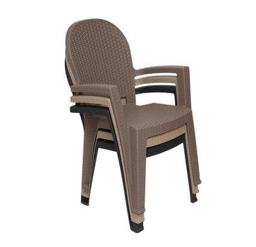Сложенные пластиковые стулья Ротанг 91 см