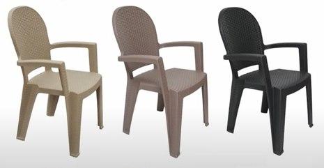 Пластиковый стул Ротанг, высота 91 сс