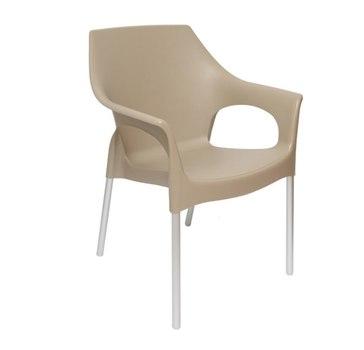 Пластиковый стул Стелла 82 см (мокко)