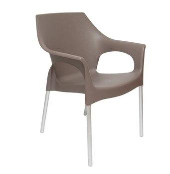 Пластиковый стул Стелла 82 см (темный мокко)