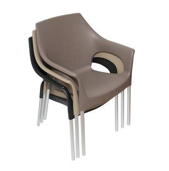 Сложенные пластиковые стулья Стелла 82 см
