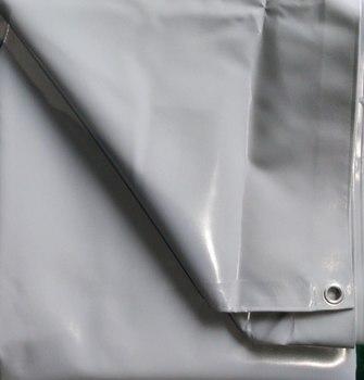Огнеупорный тент ПВХ 4х6/600 серый с люверсами 390 руб./м2