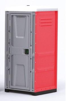 Туалетная кабина TOYPEK красная в собранном виде