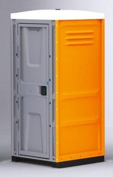 Туалетная кабина TOYPEK оранжевая в собранном виде