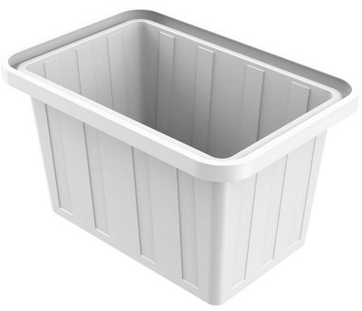 Ванна пластиковая 400 л прямоугольная (белая)