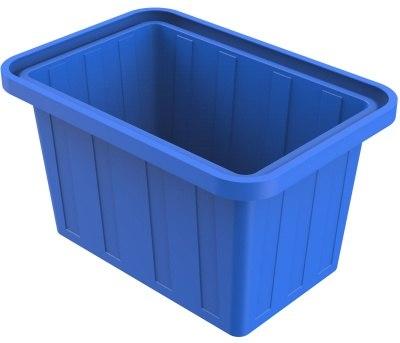 Ванна пластиковая 400 л прямоугольная (синяя)