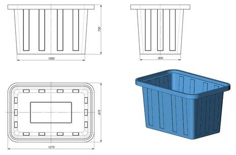 Схема пластиковой ванны 400 л
