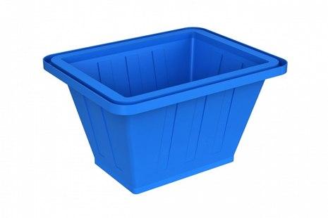Синяя пластиковая ванна K-200 на 200 л