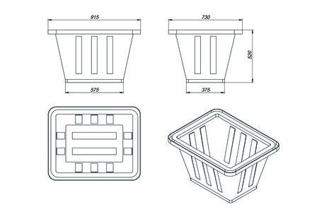 Схема пластиковой ванны K-200 на 200 л