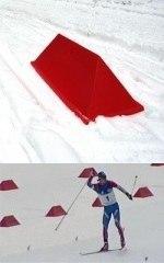 """Ограждение """"виборд"""" (v-board) для маркировки лыжных трасс 1000 мм"""