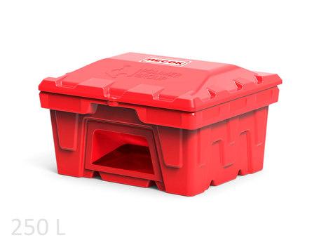 Пластиковый ящик с дозатором для песка 250 литров