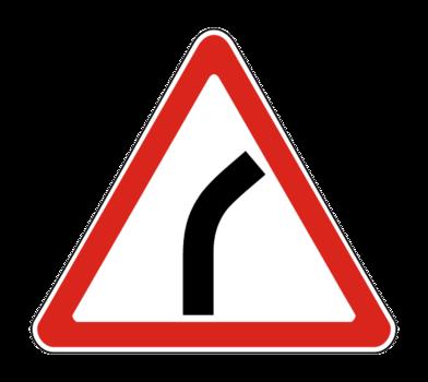 Знак 1.11.1 Опасный поворот направо