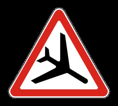 Знaк 1.30 Низколетящие самолеты
