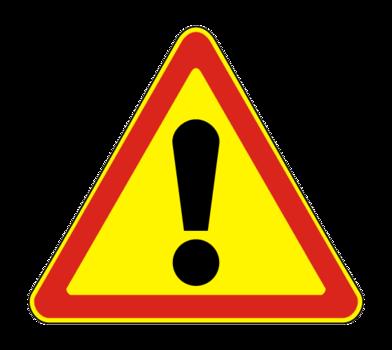 Знaк 1.33 Прочие опасности (временный)