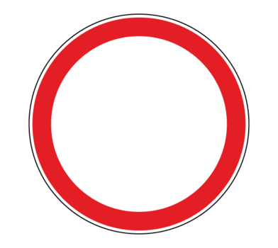 Знак 3.2 Движение запрещено (временный)