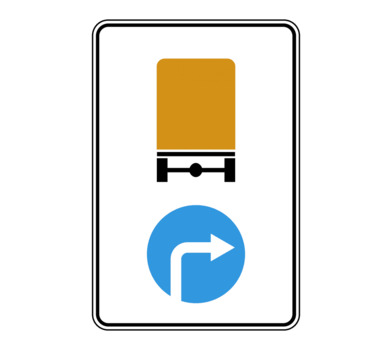 Знак 4.8.2 Hаправление движения транспортных средств с опасными грузами